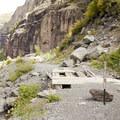 The eastern access point to the Via Ferrata.- Via Ferrata, Telluride