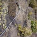 Bolted wiring along the Via Ferrata.- Via Ferrata, Telluride