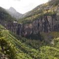Bridal Veil Falls from the Via Ferrata.- Via Ferrata, Telluride