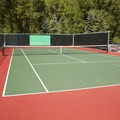 Tennis courts at Town Park Campground.- Town Park Campground
