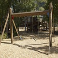 Swings at Town Park Campground.- Town Park Campground