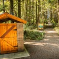 Outhouse at the trailhead.- Willowbrae Trail to Florencia Bay