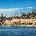 Eroding shoreline at Florencia Bay.- Willowbrae Trail to Florencia Bay