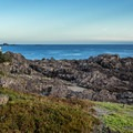 Aphitrite Lighthouse from the north.- Wild Pacific Trail, Lighthouse Loop