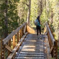 Crossing the bridge along the Bear Basin Trail.- Bear Basin + Seven Up Pass