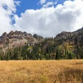 One of the ridges surrounding Bear Basin.- Bear Basin + Seven Up Pass