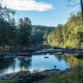 Scenic waterside trail.- Sweetwater Creek State Park