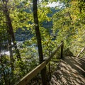 Boardwalks over the tricky areas in Sweetwater Creek State Park.- Sweetwater Creek State Park