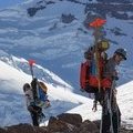Nearing Steamboat Prow above Inter Glacier.- Mount Rainier: Emmons-Winthrop Glacier Route