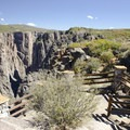 The overlook at Chasm View on the south rim of the Black Canyon of the Gunnison.- South Rim Road