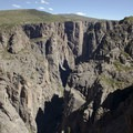 The Black Canyon of the Gunnison as seen from Chasm View on the south rim.- South Rim Road