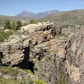 A prominence near the Rock Point Overlook in Black Canyon of the Gunnison.- South Rim Road