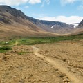 The walking trail in the Tablelands.- The Tablelands