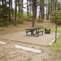 Junction Creek Campground also offers an adjacent day use area with picnic tables and fire rings.- Junction Creek Campground
