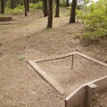 Horseshoe pit at Junction Creek Campground.- Junction Creek Campground