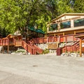 Lodge from the boat dock.- The North Cascades Lodge at Stehekin