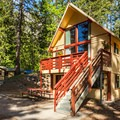One of the cabins available at the lodge.- The North Cascades Lodge at Stehekin