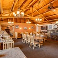 Interior of the restaurant.- The North Cascades Lodge at Stehekin