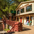 The general store at the resort.- The North Cascades Lodge at Stehekin