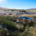 Water piped from the hot stream into a jacuzzi tub is the current soaking opportunity.- Dry Suzie Hot Spring