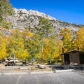 Two vault bathrooms serve the campground.- Terraces Campground + Picnic Area