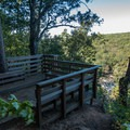 Viewpoint and rest area.- East Palisades