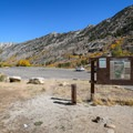 Lamoille Canyon parking area and trailhead.- Lamoille Lake
