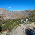 Views of Lamoille Canyon from the higher lookouts along the trail.- Lamoille Lake