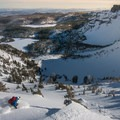 Skier Rob Story finding the goods off of Tam McArthur Rim.- Three Creek Lake + Tam McArthur Rim Yurts