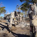 Statues of notable Indigenous American figures stand throughout the monument.- Thunder Mountain Monument