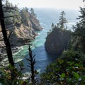 Thunder Rock Cove in the late afternoon.- Thunder Rock Cove