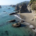 A beach only accessible during very low tides.- Thunder Rock Cove