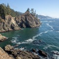 Great views of the Oregon Coast from the point of the cove.- Thunder Rock Cove