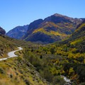 Lamoille Canyon Scenic Byway as it enters Lamoille Canyon.- Thomas Canyon Campground