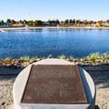 Historical marker at Sparks Marina.- Sparks Marina