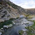 The springs sit beside Bishop Creek.- Twelve-Mile Hot Spring