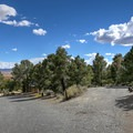 Gravel roads with driveways at South Ruby Campground.- South Ruby Campground