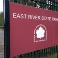 The park's main entrance on Kent Avenue.- East River State Park