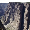 Looking west from the Painted Wall Overlook at Black Canyon of the Gunnison.- South Rim Road