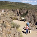 A short trail to the Pulpit Rock Overlook at Black Canyon of the Gunnison.- South Rim Road