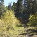 Fall foliage along Cascade Creek.- Cascade Creek Trail