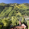 The Telluride Ski Resort across the canyon from the Jud Wiebe Trail.- Jud Wiebe Trail
