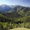 The Telluride Ski Resort from the Sneffels Highline Trail near treeline.- Sneffels Highline