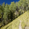 Steep slopes along the Sneffels Highline Trail.- Sneffels Highline