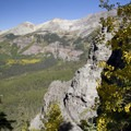 One of the first viewpoints along the Sneffels Highline Trail.- Sneffels Highline