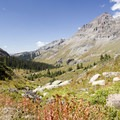 The Mill Creek Basin along the Sneffels Highline Trail.- Sneffels Highline