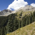 Campbell Peak from the Sneffels Highline Trail.- Sneffels Highline
