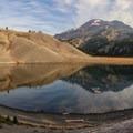 Moraine Lake with South Sister.- Three Sisters Loop