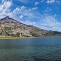 Green Lake with South Sister.- Three Sisters Loop