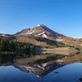 Camp Lake reflection of South Sister.- Three Sisters Loop